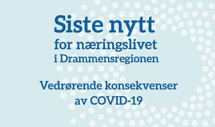 COVID-19 PORTAL. De viktigste linkene med informasjon for næringsliv.