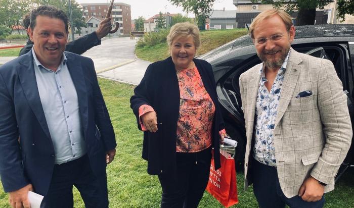Statsminister Erna Solberg på Næringsforeningens Hagefest.