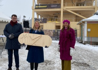 SporX – Drammens nye signalbygg reiser seg i massivt tre