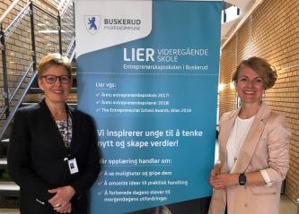 Vellykket samarbeid for ungdomsbedrifter ved Lier v.g. skole. -utelukkende positivt, sier PwC Drammen